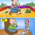 Thú vui giải trí của trẻ thời nay khác ngày xưa thế nào?